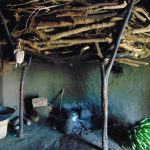 The Water Project: Indulusia Community, Yakobo Spring -  Firewood Store Inside The Kitchen