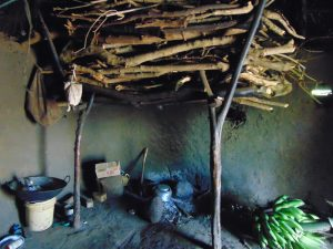 The Water Project:  Firewood Store Inside The Kitchen