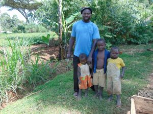 The Water Project:  Mr Alfred Isaiah With His Kids