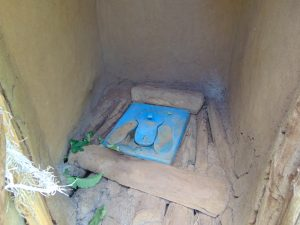 The Water Project:  Plastic Cover Inside Latrine