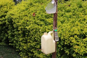 The Water Project:  Improvised Handwashing Containers With Liquid Soap