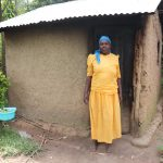 The Water Project: Shitavita Community, Patrick Burudi Spring -  Mrs Burudi Outside Her Kitchen