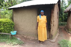 The Water Project:  Mrs Burudi Outside Her Kitchen