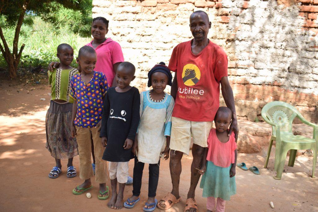 The Water Project : kenya4311-covid19-edward-kimeu-and-his-family