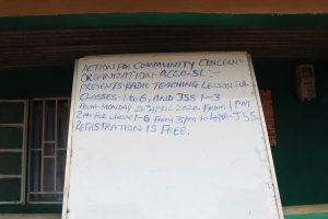 The Water Project:  Notice Board For Community Base Organisation