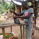 The Water Project: Lungi, Kambia, #6 Bangura St. -  Grinding Cassava Leaves