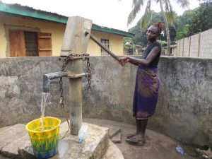 The Water Project:  Community Member Collecting Water