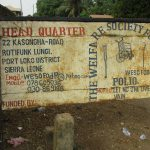 The Water Project: Lungi, Rotifunk, 22 Kasongha Road -  Sign Board At Disable Office