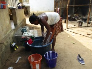 The Water Project:  Young Girl Laundring