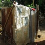The Water Project: Lungi, Suctarr, #1 Kabbia Lane -  Bath Shelter