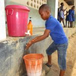 The Water Project: Lungi, Tintafor, St. Augustine Senior Secondary School -  Student Demostrating Hand Washing