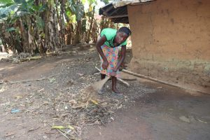 The Water Project:  Woman Sweeping