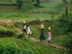 The Water Project:  Carrying Water From Nambwaya Spring