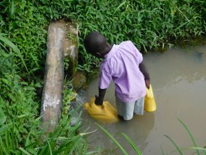 The Water Project:  Collecting Water From Nambwaya Spring