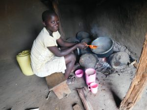 The Water Project:  Preparing A Meal Inside The Kitchen