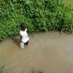 The Water Project: Maraba Community, Nambwaya Spring -  Wading Out Of The Spring Water