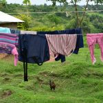 The Water Project: Bukalama Community, Wanzetse Spring -  Clothesline