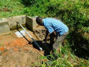 The Water Project:  Water Diverted With Pvc Pipe