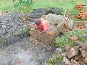 The Water Project:  Reservoir Tank Brickwork