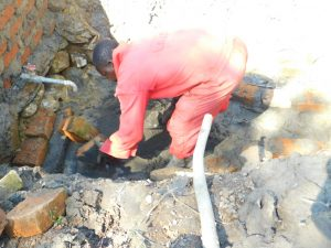 The Water Project:  Installing Gate Valve For Drawing Water