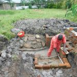 The Water Project: Eshiakhulo Community, Asman Sumba Spring -  Construction Of New Staircase
