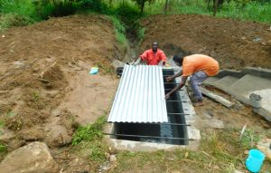 The Water Project:  Fitting Metal Sheet To Top Slab