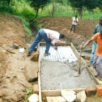 The Water Project: Ikonyero Community, Jesse Spring -  Covering Top Slab
