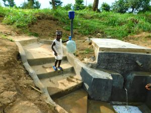 The Water Project:  Ready To Fetch Water From The New Tank