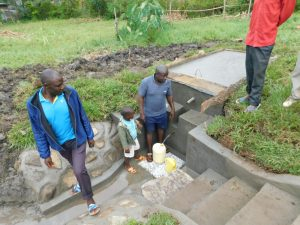 The Water Project:  Water Users Fetching Water