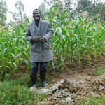 The Water Project: Eshiakhulo Community, Asman Sumba Spring -  Community Member Who Donated Bricks