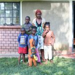 The Water Project: Bukhaywa Community, Ashikhanga Spring -  Isabella With Her Children And Neighboring Kids
