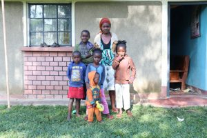 The Water Project:  Isabella With Her Children And Neighboring Kids