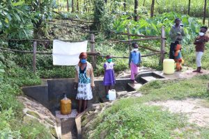The Water Project:  Isabella With Her Girls And Others At Ashikhanga Spring
