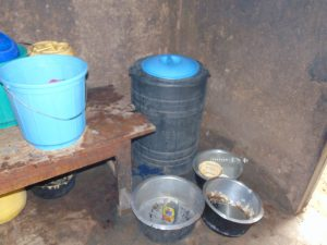 The Water Project:  Water Storage Inside The Kitchen