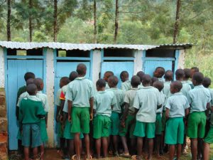 The Water Project:  Boys At Their Latrines