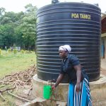 The Water Project: Friends Musiri Primary School -  Small Rain Tank For Cooking Use