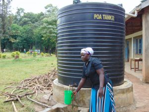 The Water Project:  Small Rain Tank For Cooking Use