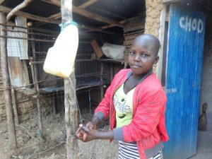 The Water Project:  Handwashing Outside A Latrine