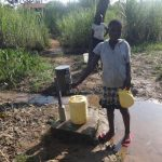 The Water Project: Mahira Community, Mukalama Spring -  Using Chlorine