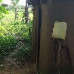 The Water Project: Mahira Community, Mukalama Spring -  Handwashing Station Outside Latrine