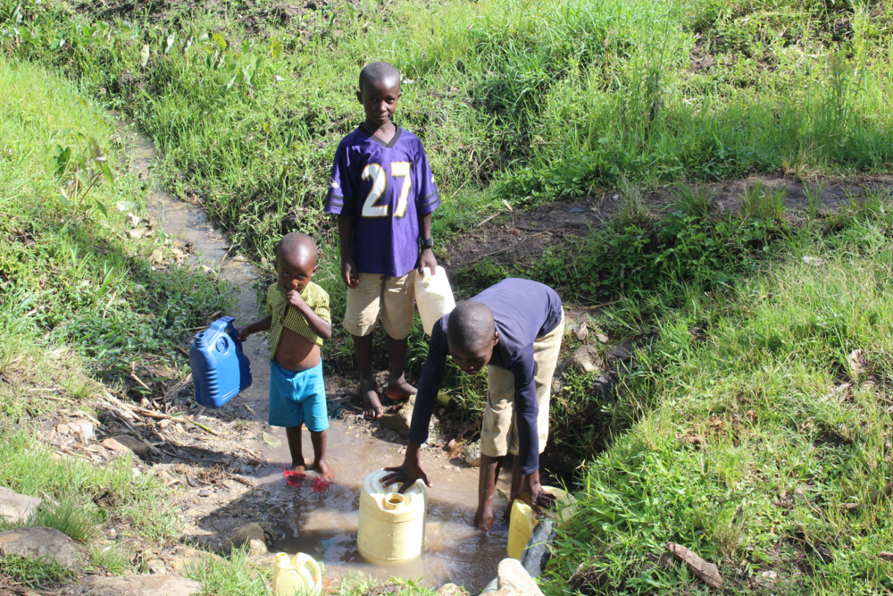 The Water Project : kenya20247-children-fetching-water