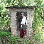The Water Project: Lukala C Community, Livaha Spring -  Mama Fridah At Her Latrine