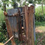 The Water Project: Mukhonje B Community, Peter Yakhama Spring -  Kenya Bathing Shelter