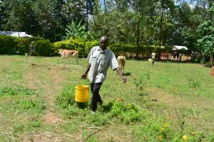 The Water Project:  Water From Olingo Spring In Use