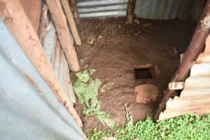 The Water Project:  Mud Floor Of Latrine