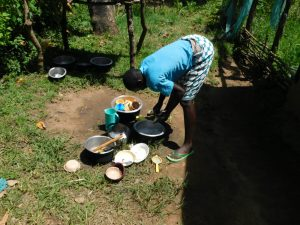 The Water Project:  Some Household Chores With Water From Wabuti Spring