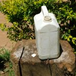 The Water Project: Musango Commnuity, Wabuti Spring -  Leaky Tin Handwashing Station With Soap