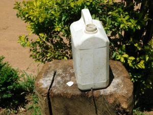 The Water Project:  Leaky Tin Handwashing Station With Soap