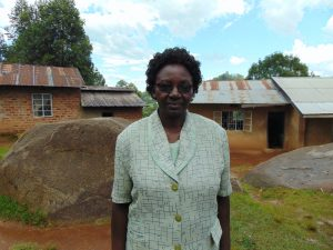 The Water Project:  Headteacher Florence Aseyo