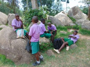 The Water Project:  Pupils Relaxing During Breaktime
